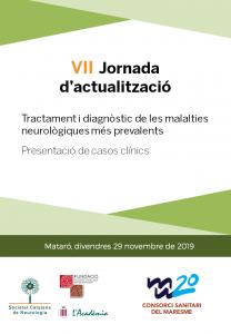 PORTADA PROGRAMA PRELIMINAR MATARÓ VII JORNADA ACTUALITZACIÓ 29 NOVEMBRE 2019