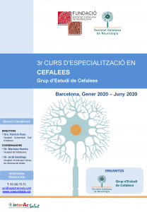 PORTADA PROGRAMA CURS CEFALEES 2020
