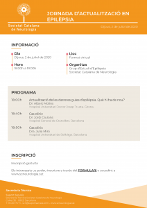 Programa Jornada Actualització en Epilèpsia - 2 juliol 2020