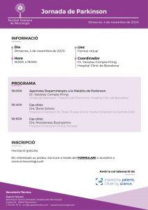 Portada programa Jornada Parkinson - 4 novembre 2020