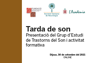 Jornada Tarda de Son. Presentació del Grup i activitat formativa